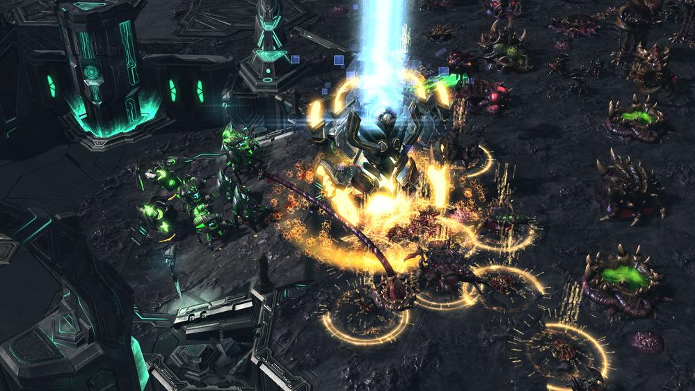 RTS(リアルタイムストラテジー)のゲーム画面