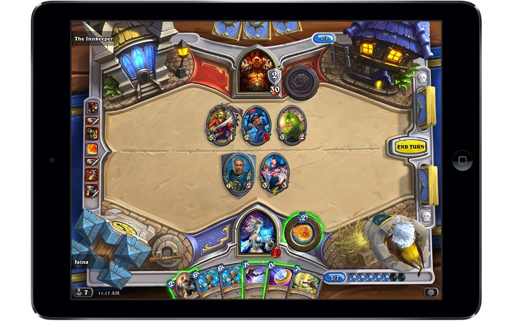 トレーディングカードゲームのゲーム画面