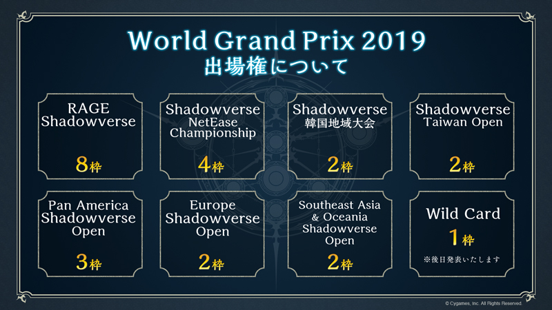 「Shadowverse World Grand Prix 2019」予選大会が世界中で開催