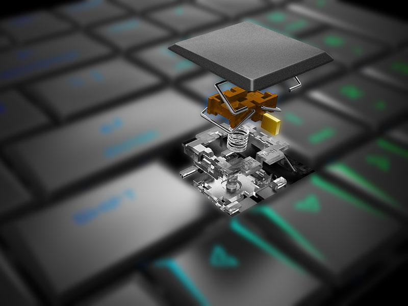 全キー同時押し対応メカニカルキーボード