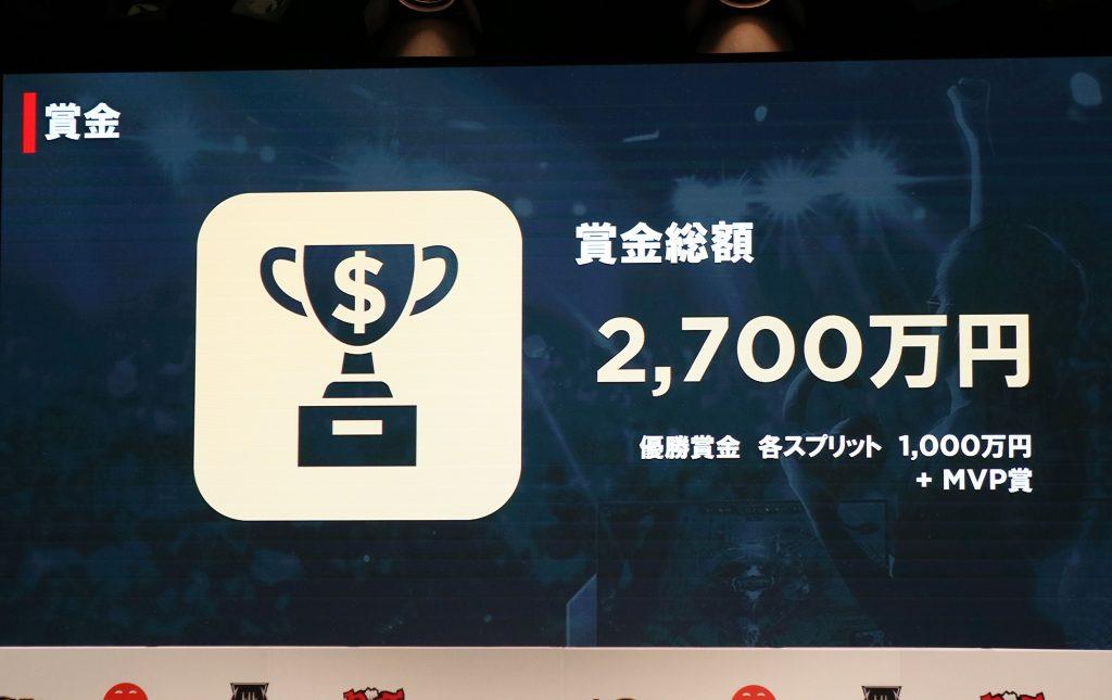 賞金総額は2700万円 MVP賞の新設発表
