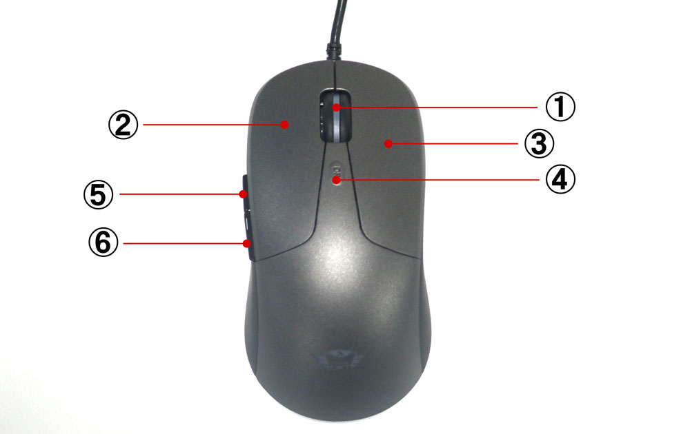 GXT 180 Kusan PRO GAMING MOUSEのボタン