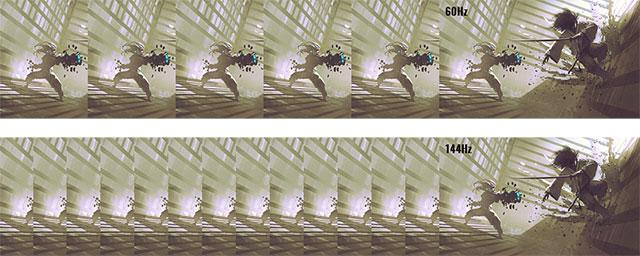 リフレッシュレート 144Hz のゲーミング液晶パネルの参考画像