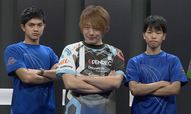 「ITABASHI OCEAN」の板橋ザンギエフ選手、もっちゃん選手、木村圭汰選手