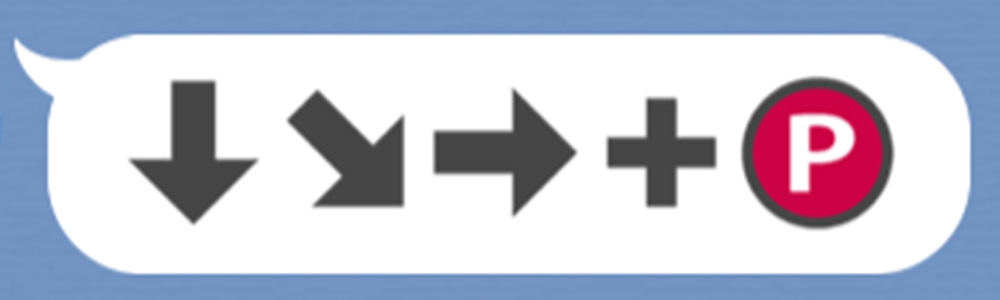 波動拳の格ゲーコマンド絵文字