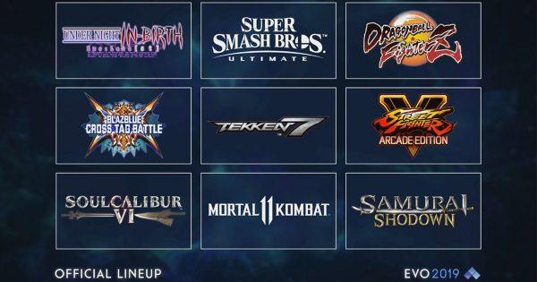 世界最大の格闘ゲーム大会 「EVO 2019」のメインタイトル9つが発表