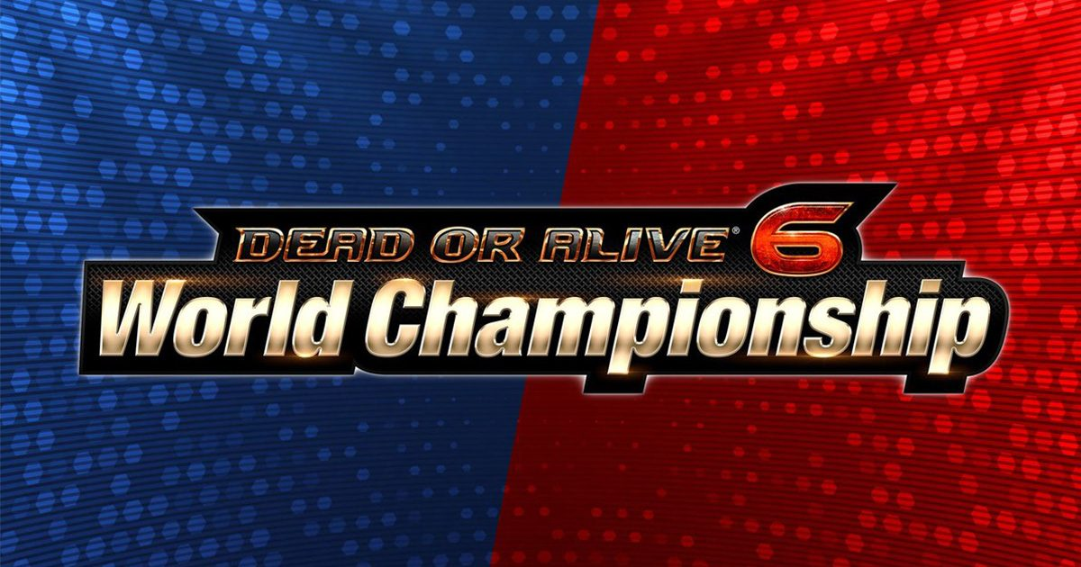 「DEAD OR ALIVE 6 World Championship」バナー