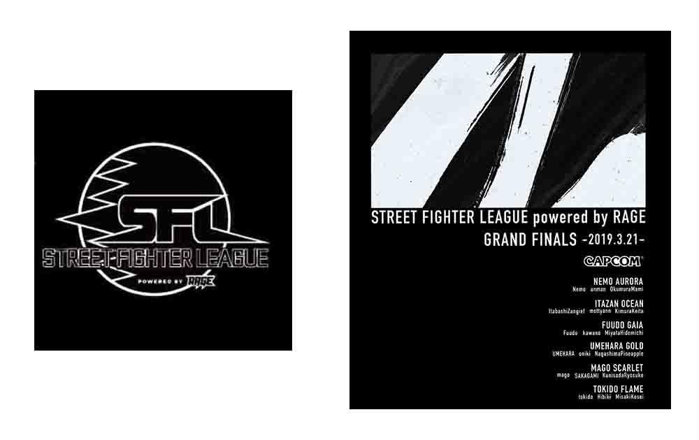 ストリートファイターリーグプレミアムパーカーフロントプリントとバックプリント