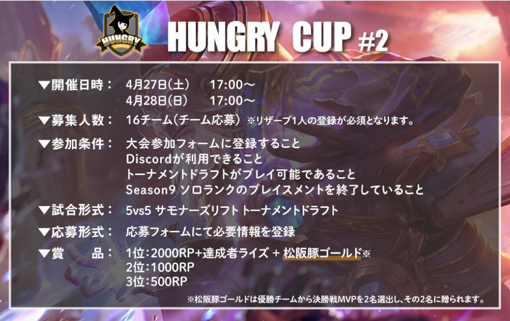Hungry Cup #2 概要