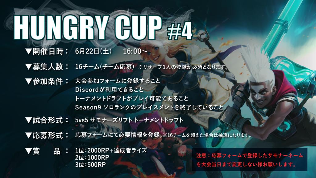 Hungry Cup #4大会概要