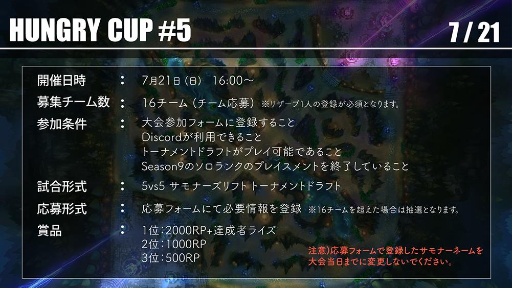 ハングリーカップ詳細