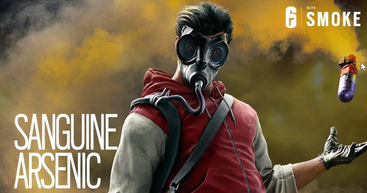 レインボーシックスシージ Smokeの新エリートスキン「Sanguine Arsenic」を販売開始