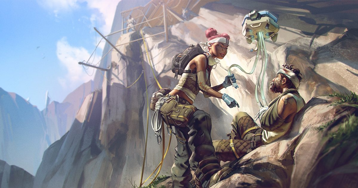 Apex Legends サークル外でダウンした味方を救う天才的な方法が発見される