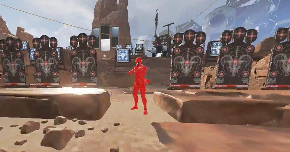 Apex Legends 射撃演習場で発見されたイースターエッグまとめ BOTの出現にTPS視点への切り替えも